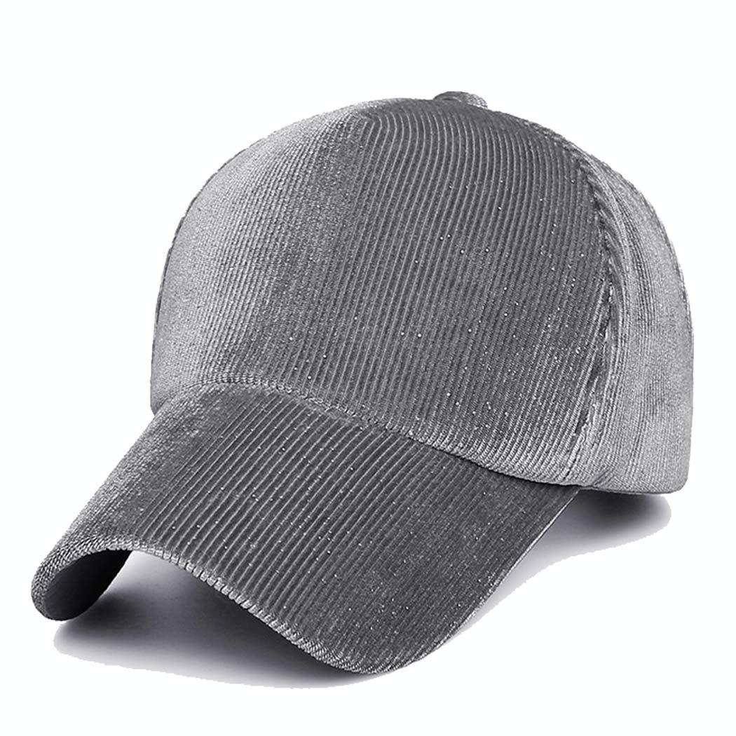 MISS/&YG Winter new baseball cap six caps net cap cashmere corduroy velvet ladies hat