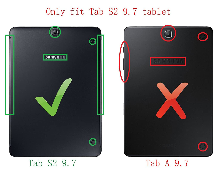 Amazon.com: KuGi Samsung Galaxy Tab S2 9.7 Keyboard case, Ultra-thin  Detachable Bluetooth Keyboard Stand Portfolio Case with stylus for Samsung  Galaxy Tab ...