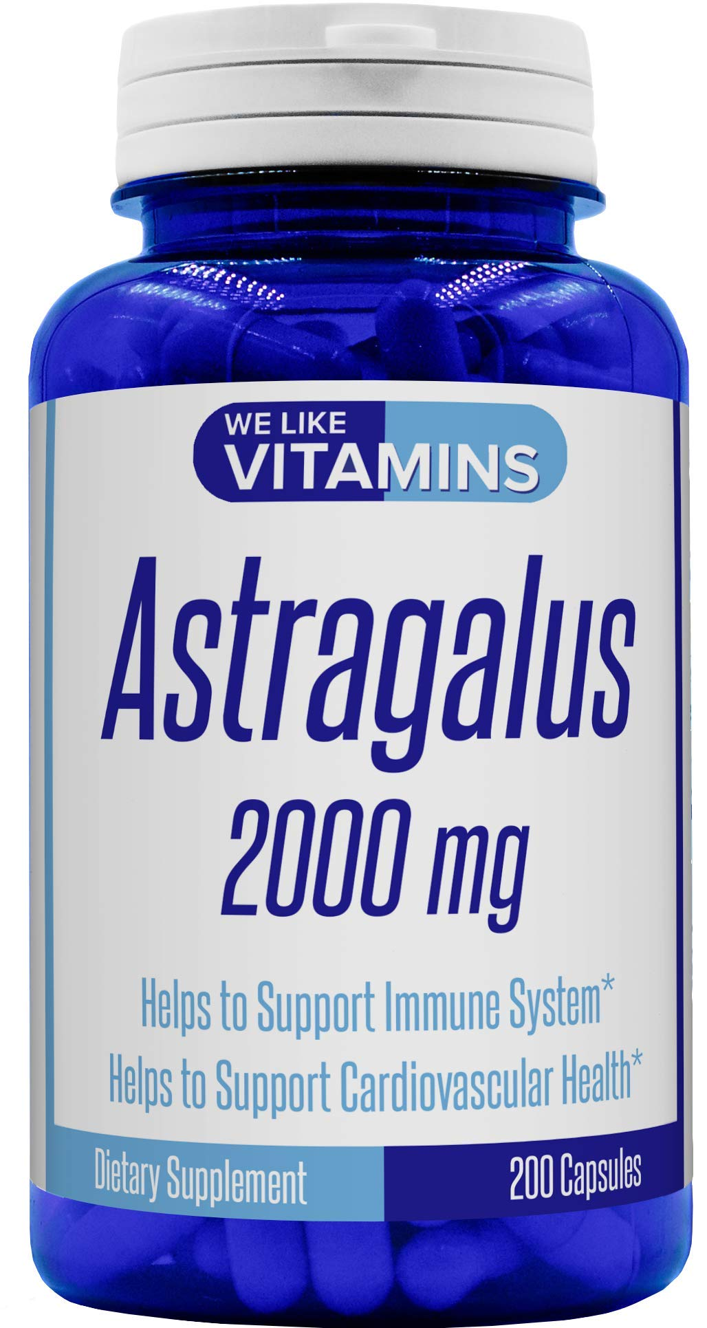 Astragalus Max Strength 2000mg – 200 Capsules – Best Value Astragalus Supplement on Amazon – Helps Support Strong Immune Function and Cardiovascular System