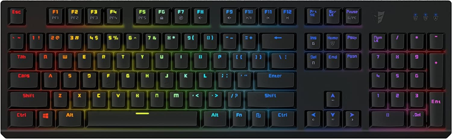 Tesoro Gram Spectrum Low Profile G11SFL Blue Mechanical Switch Single Individual Per Key Full Color RGB LED Backlit Illuminated Mechanical Black Gaming Keyboard TS-G11SFL B (BL)