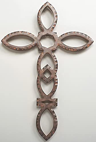 Roman 14.5 Ichthus Rustic Iron Finish Wall Cross