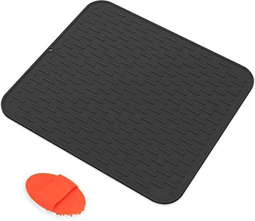 Silicone Dish Drying Mat With Scrubber Silicone Mats Counter Top