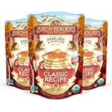 Organic Pancake and Waffle Mix, Classic Recipe by Birch Benders, Whole Grain, Non-GMO, 48 Ounce (16oz 3-pack)