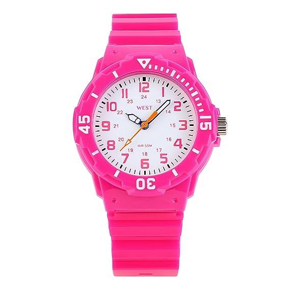 West Watch – Original – Deportivo Analógico Reloj de pulsera infantil – Modelo MOON – Rosa