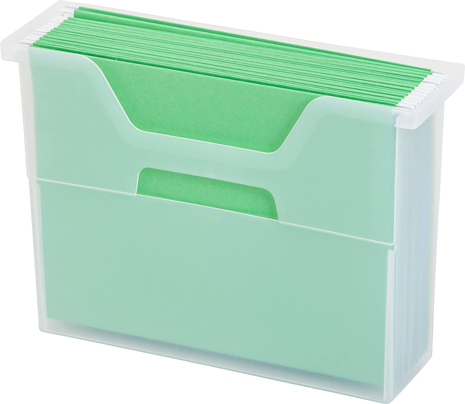 Amazon.com: IRIS Desktop File Box, Small, Clear: Home & Kitchen