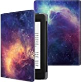 Fintie Folio Case for Kindle Paperwhite (Fits All-New 10th Generation 2018 / All Paperwhite Generations) - Book Style Vegan Leather Shockproof Cover with Auto Sleep/Wake, Galaxy