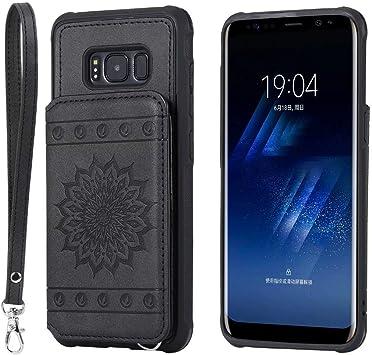 Funda Samsung s8, Funda Samsung Galaxy s8, tengmao Funda Cuero con ...