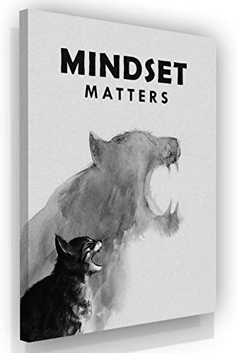 Mindset Is Everthing Motivational Wall Art Canvas Print