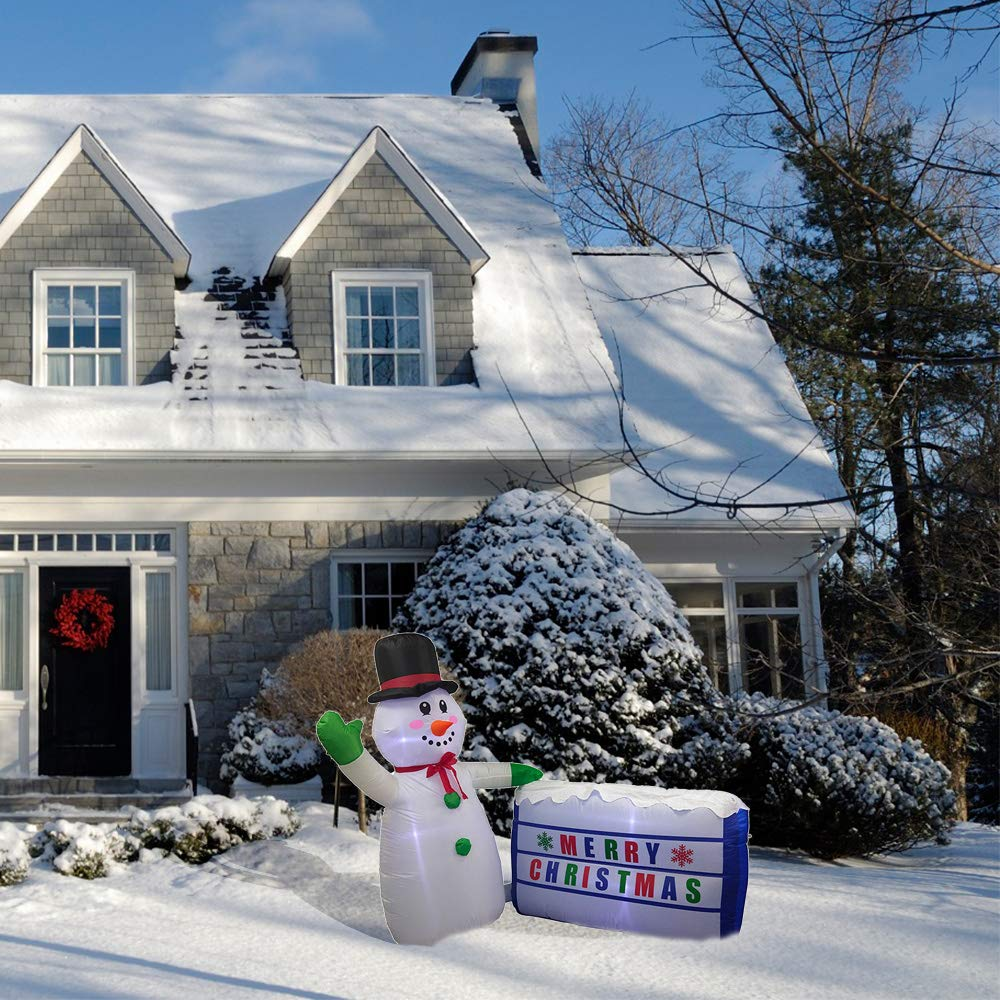 8 Foot with UL Certified Blower Holiday Christmas Inflatable Christmas D/écor ALEKO CHID011 Giant Inflatable LED Waving Santa Claus LED Outdoor Christmas Decorations