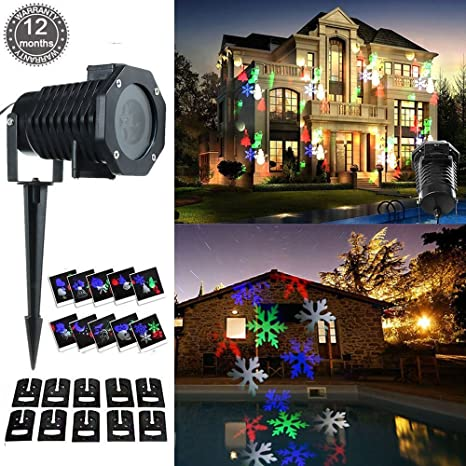 Christmas Projector Lamp Christmas Light Landscape Led Multicolor Moving Decor Lights Stage Spotlight Outdoor Indoor For Xmas Party Garden Flood Patio