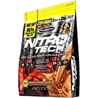 MuscleTech NitroTech Protein Powder, 100% Whey Protein with Whey Isolate, Milk Chocolate, 10 Pound