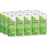 Marcal Paper Towels 100% Recycled 2-Ply, 60 Sheets Per Roll - Case of 15 Individually Wrapped Green Seal Certified 06709…