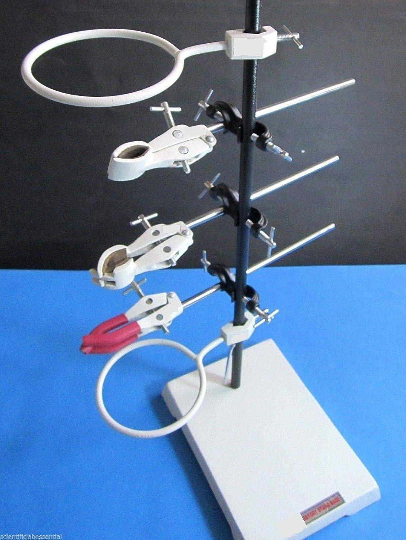 etc. pinces Support de laboratoire lourd de 22,86 x 15,24 cm avec tige S.S.S support entonnoir