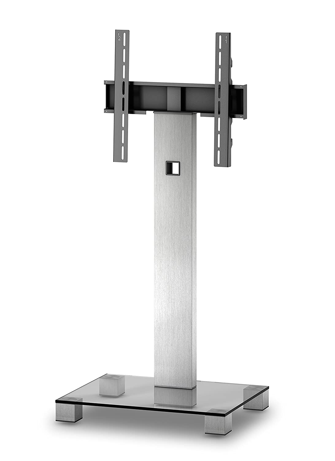 Sonorous Pl 2510 Glass Inox Aluminium Stand For Tv Of Sizes Up To  # Sonorous Meuble Tv