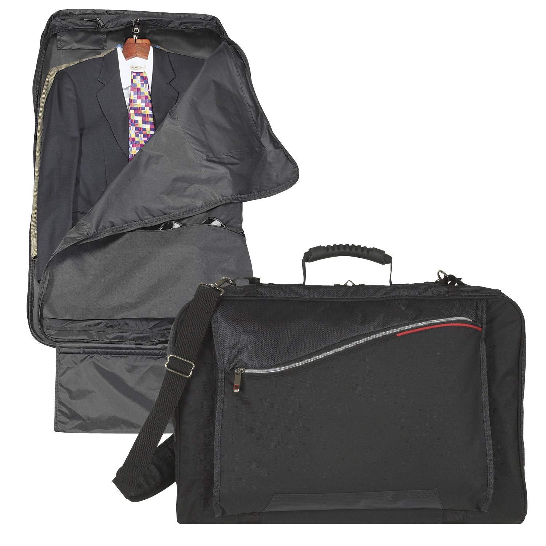 Black Three Suiter Extended Long Length for Dresses Carry-On Garment Bag