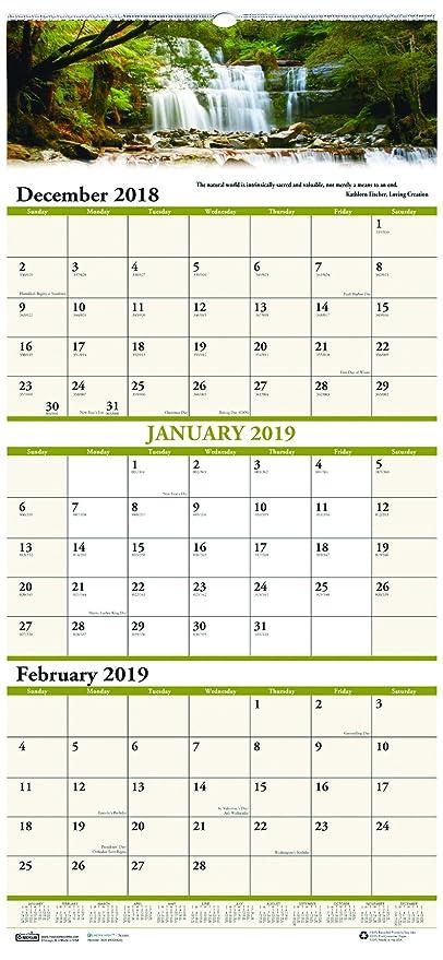 Amazon Com House Of Doolittle 2019 Wall Calendar Three Month View