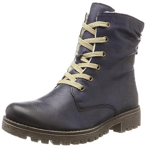 Womens 73232 Boots, Blue, 3.5 UK Rieker