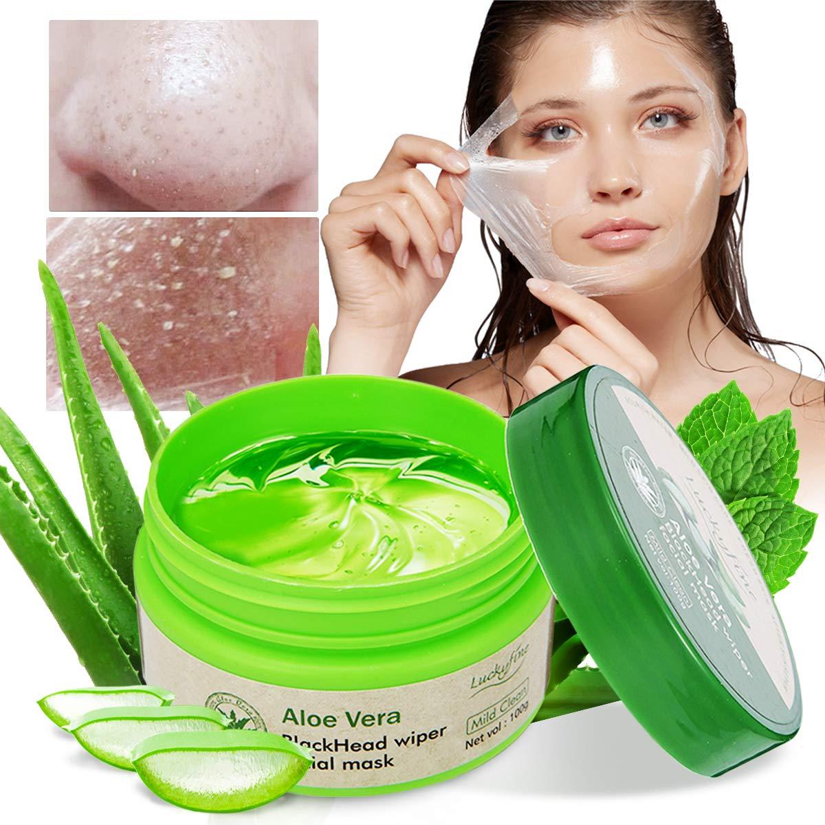 Aloe Mask, Aloe Vera Peel Off Blackhead Remover Mask -Facial Mask- Peel off Face Masks-Aloe Vera Extract Facial Mask- Oil Control - Facial Moisturizing - Moisture Skin
