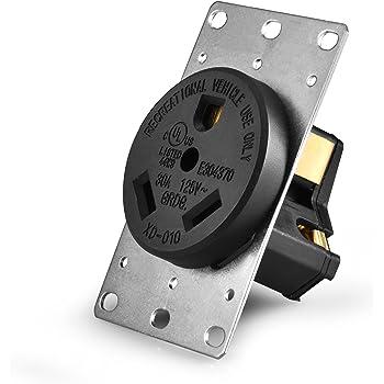 aweking ul listed 50 amp 50a power receptacle outlet nema. Black Bedroom Furniture Sets. Home Design Ideas