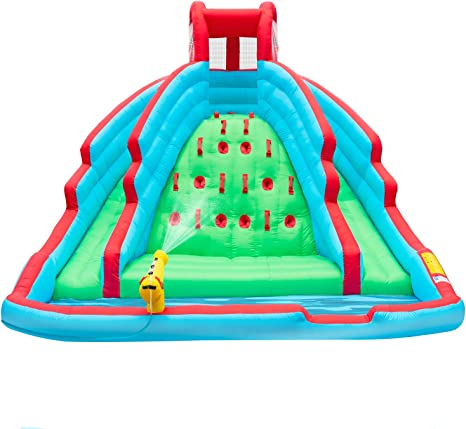 Amazon.com: Deluxe Inflable Water Slide Park - Estación de ...