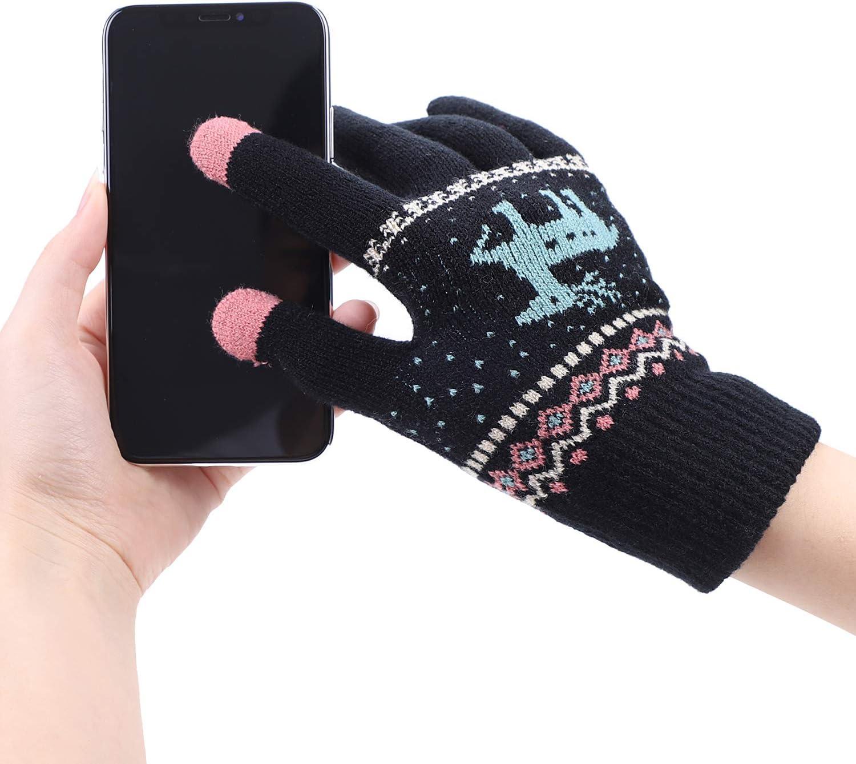 Guantes para mujer para pantalla táctil, guantes de invierno para ...