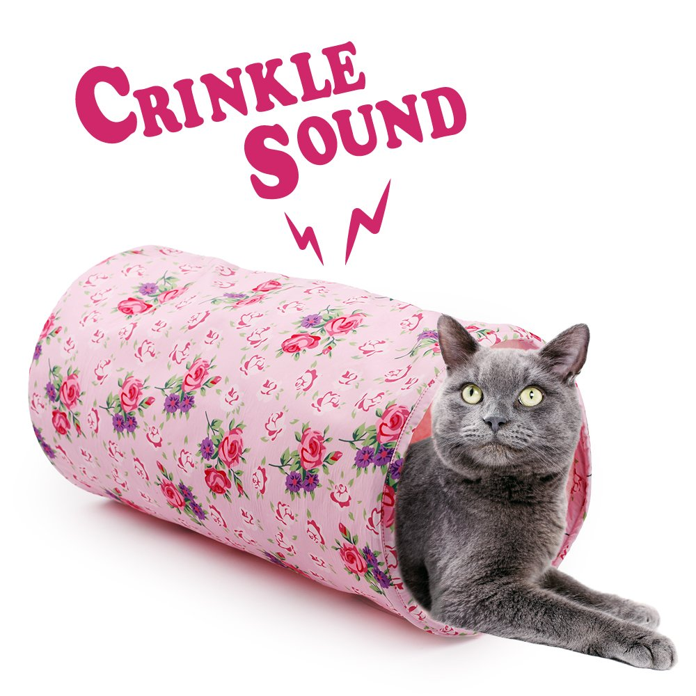 ALL FOR PAWS AFP Crinkle Cat Tunnel Cat Toys (Shabby Chic) by ALL FOR PAWS (Image #5)