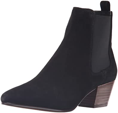 Sam Edelman Women's Reesa Ankle Bootie, Black Suede, ...