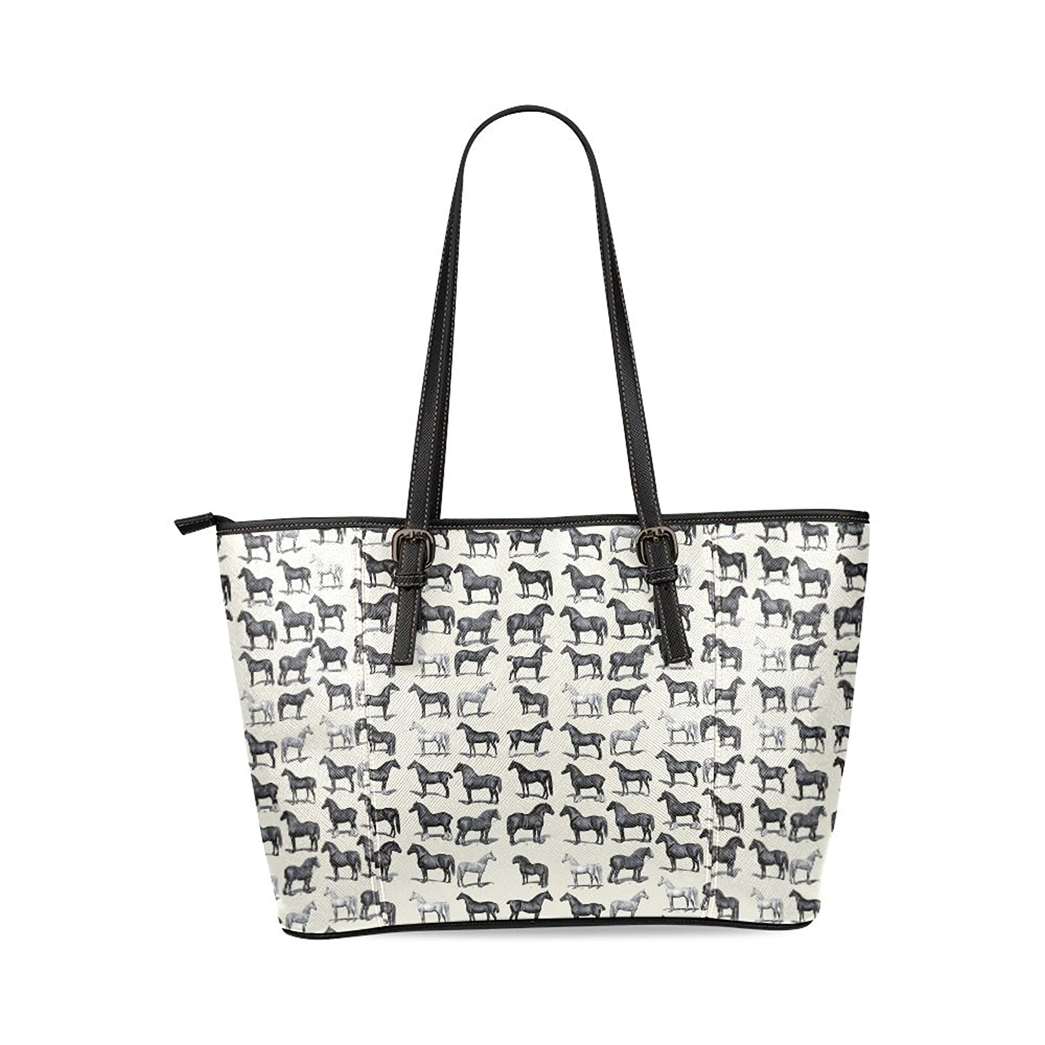Horse Women's Mosaic High-grade PU Leather Large Tote Bag/Handbag/Shoulder Bag