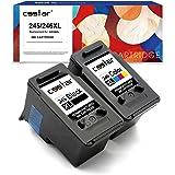 CSSTAR Remanufactured Ink Cartridge Replacement for Canon PG-245XL CL-246XL for Pixma MX492 MG2525 MG2920 MX490 MG3020 MG2522