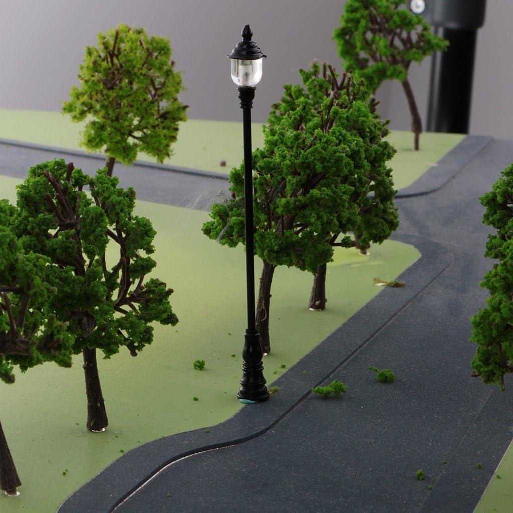 Stra/ßenlandschaft # 1 sharprepublic 5 Pcs 1:64 LED Lampe Stra/ßenlampe Laterne Parklaterne Beleuchtung Modell Perfekt F/ür Hof Modelleisenbahn Layout