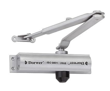 Royal Hardware Aluminium Hydraulic Door Closer, 180x 36 x 39.5mm (Silver)