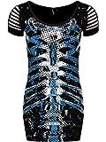 Banned Women39;s Blue Ribcage Ultra Mini Dress Black