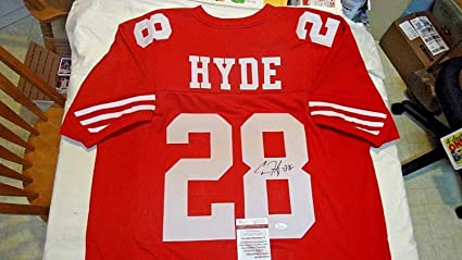 new style eba53 61ec3 Carlos Hyde Autographed Signed Custom San Francisco 49ers ...