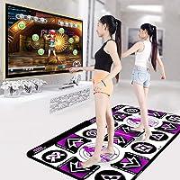 CHEERM Double Dance Mat, Non-Slip Durable Musical Play Mat Dancer Blanket Dance Machine TV Computer Dual-use Somatosensory Double Game 3D Running Blanket Yoga Game Machine for Adults Children