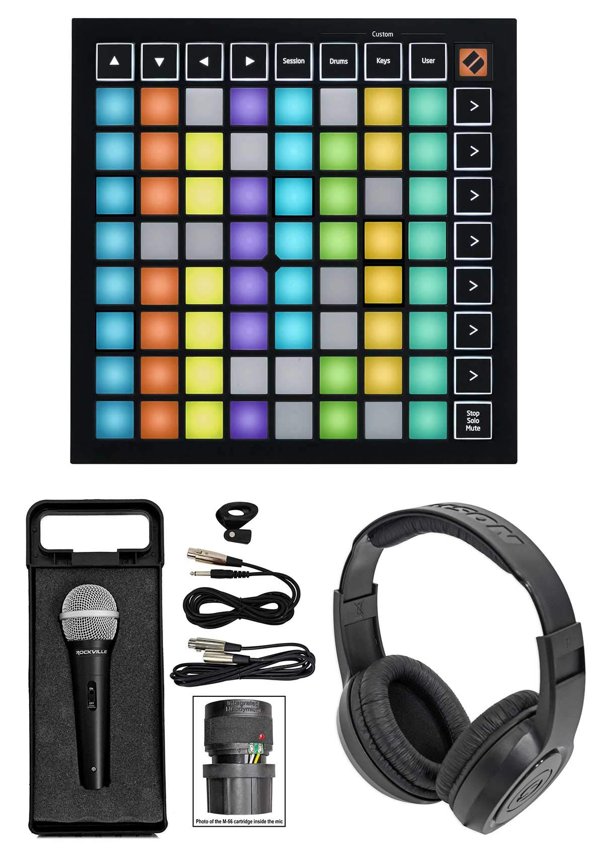 Novation Launchpad Mini MK3 MKIII MIDI USB Pad Controller+Mic+Headphones by Novation