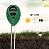 LANMU ph 土壌測定器 多機能3in1 土壌酸度/照度/水分計 土壌のPH/照度/水分検定 電源不要 土壌 テスター 園芸用品 農業栽培/家庭菜園対応 簡易型 屋内/屋外使用可能