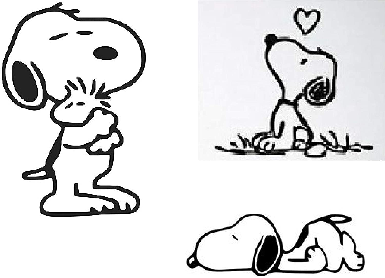 Snoopy Woodstock Cool Funny Dog Car Truck Window Vinyl Decal Sticker 12 COLORS