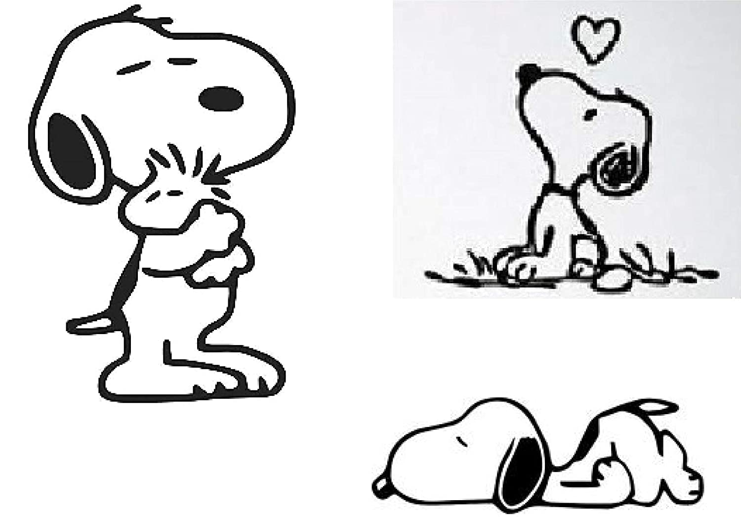 Snoopy Peanuts and Woodstock Inspired Decal Sticker for car Laptop for Apple MacBook Pro Vinyl Decals