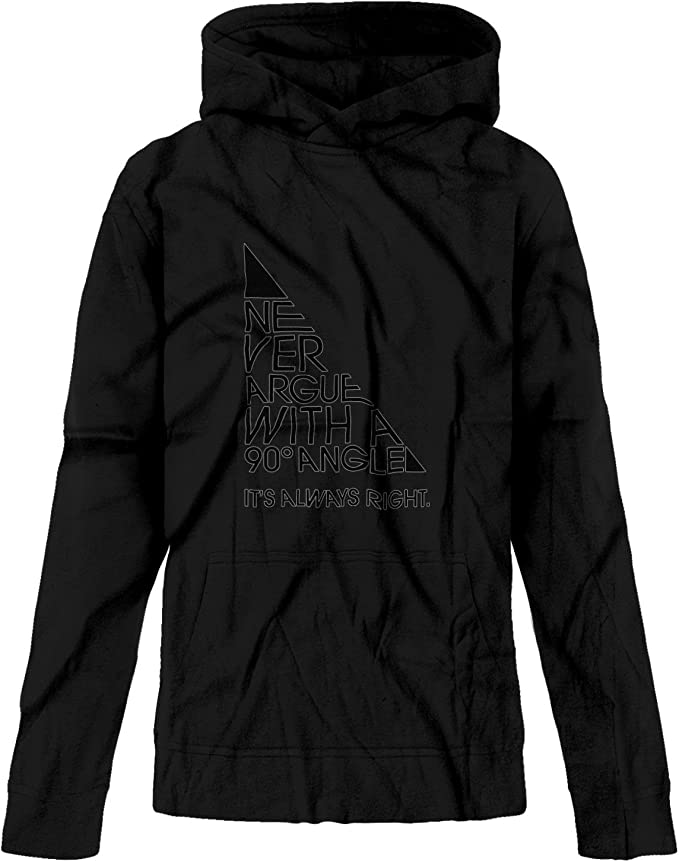 BSW Youth Girls Never Argue with A 90 Degree Angle Always Right Hoodie
