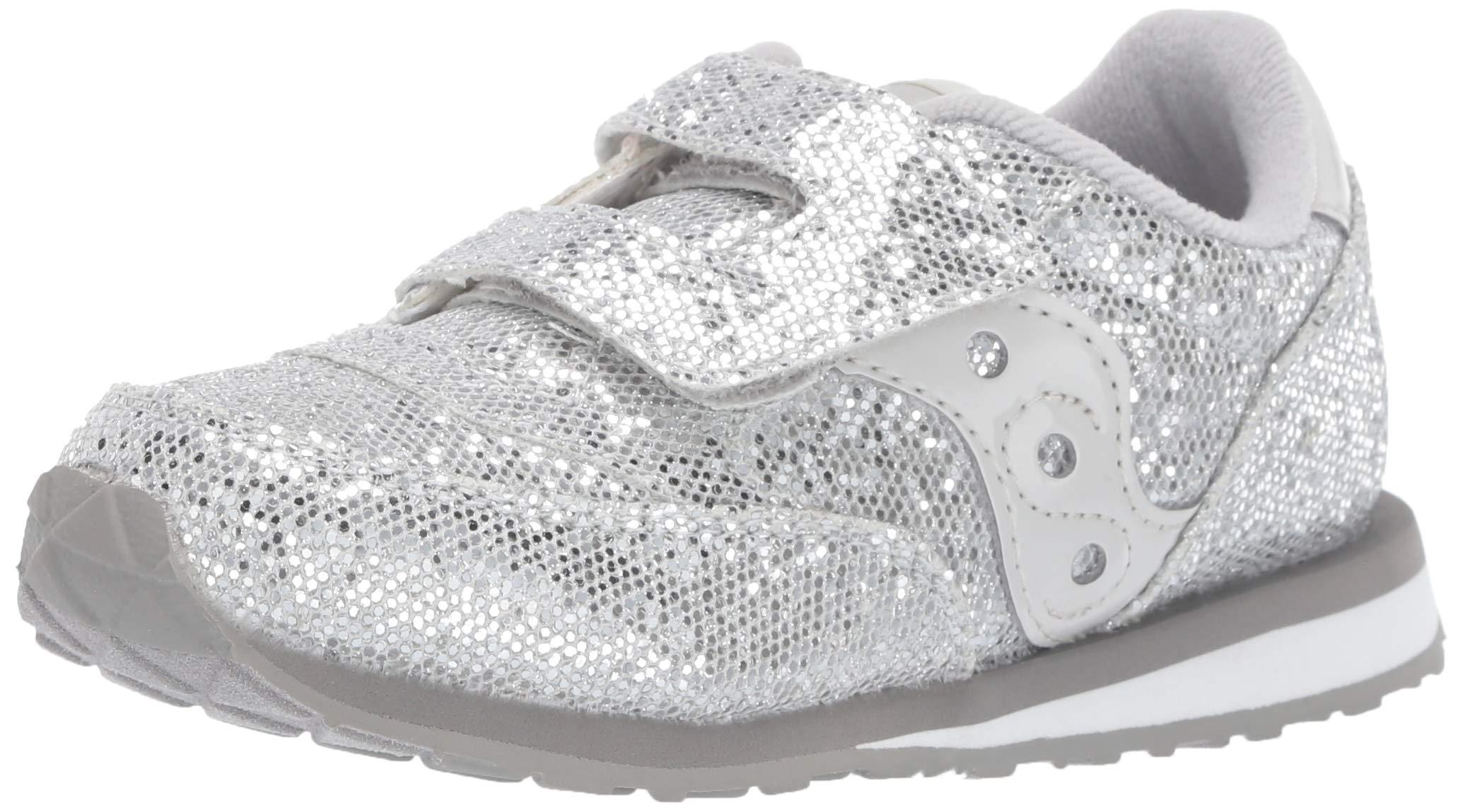 Saucony Girls' Baby Jazz HL Sneaker Silver/Sparkle 040 Medium US Toddler