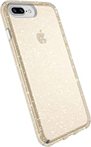 Speck Products Presidio Glitter Case for iPhone 8 Plus, iPhone 7 Plus, and iPhone 6/6S Plus - Bulk Packaging - Gold Glitter/Clear