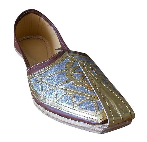 Kalra Creations - Zapatos de boda indios tradicionales de piel para hombre: Amazon.es: Zapatos y complementos