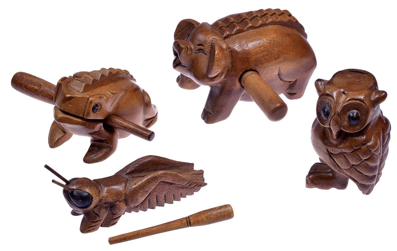 4 Klangtiere im Set ( Frosch, Schwein, Grille, Eule) - Klang Tiere ...