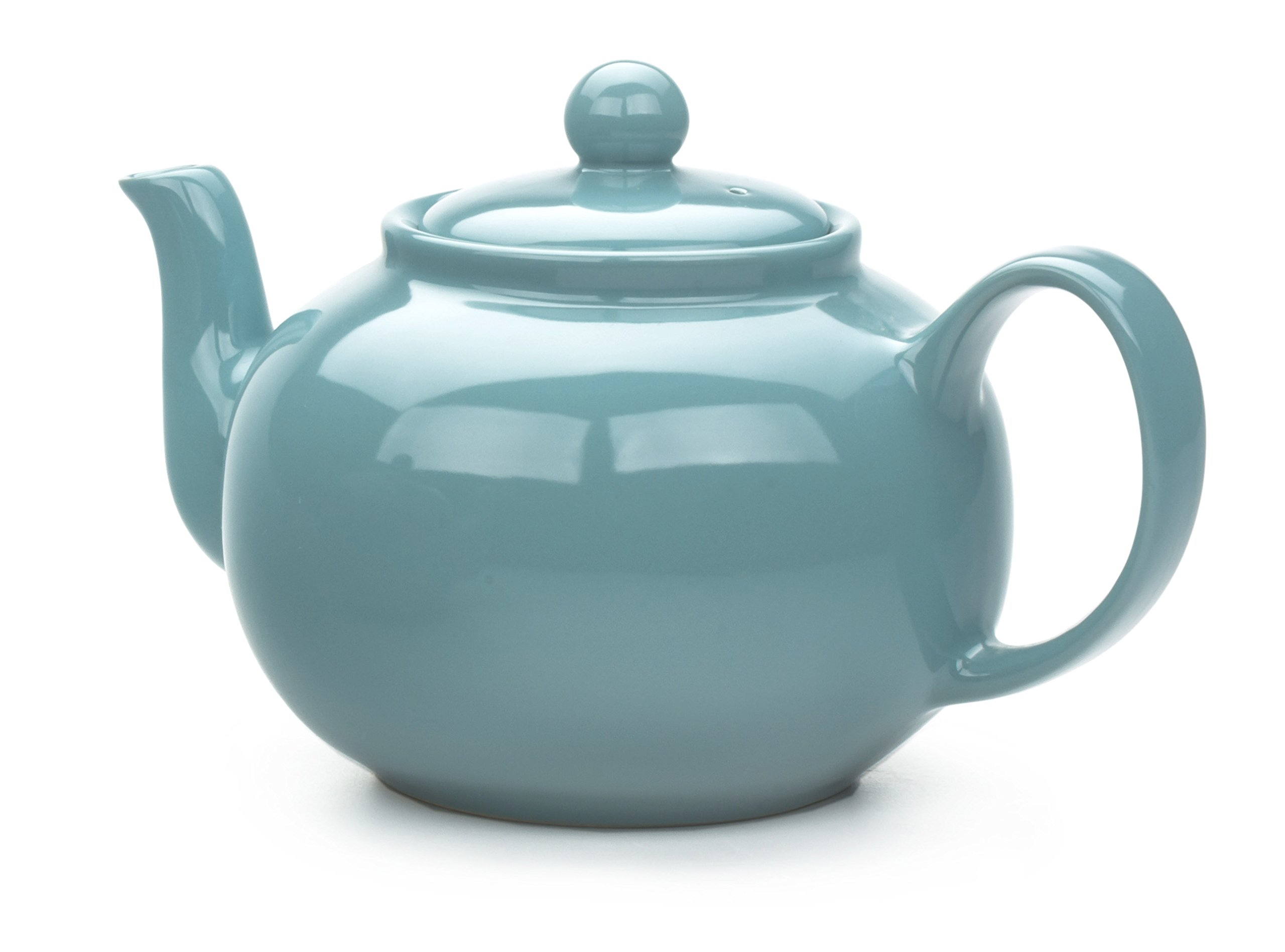 RSVP Large Stoneware 6-Cup Teapot, Turquoise by RSVP International