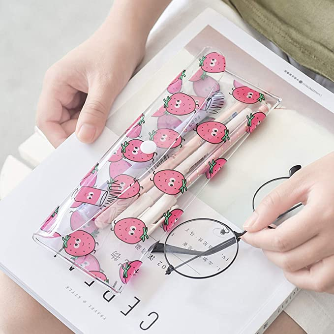 Amazon.com : 1 Pcs Kawaii Pencil Case Strawberry PVC Gift ...