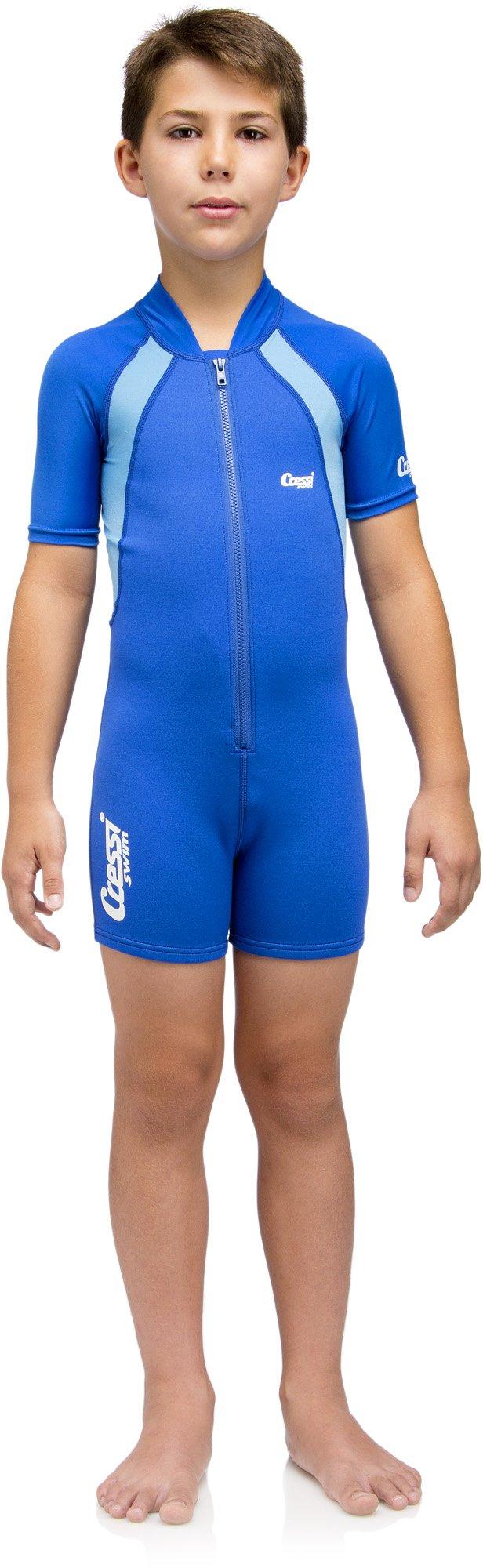 Cressi Unisex Wetsuit Neoprene, Traje de Buceo 1.5 mm para Niños, Azul (Blue/Blue Light), 6-8 Años (Talla fabricante: XL)
