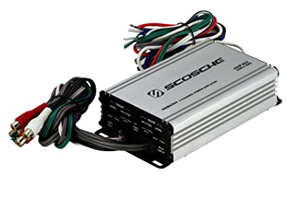 SCOSCHE HDMA504i 4 Channel 400-Watt Max Mini Car Stereo Amplifier