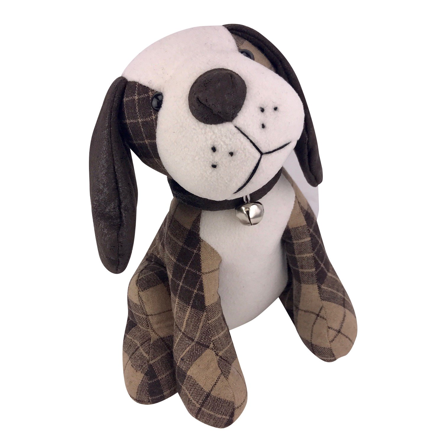 Cute Big Brown Dog Fabric Weighted Door Stop