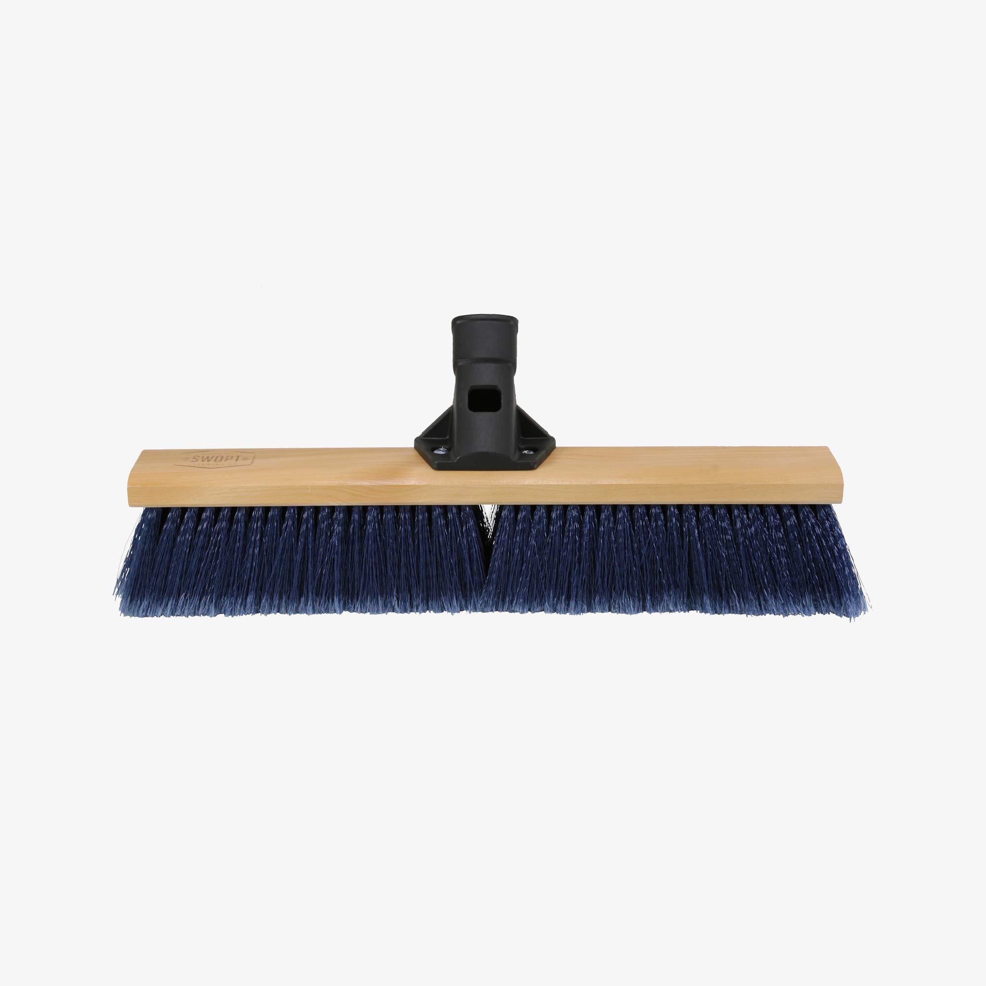 Swopt 5113C4 SWOPT 18 Premium Multi-Surface Push Broom Head, Push Broom for Indoor and Outdoor Use