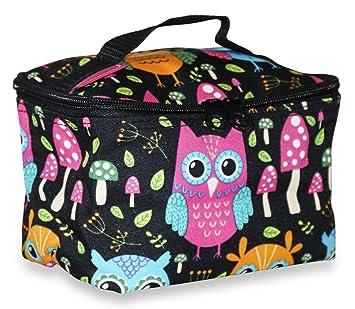 832111c888a0 Amazon.com : Ever Moda Small Owl Makeup Bag : Beauty